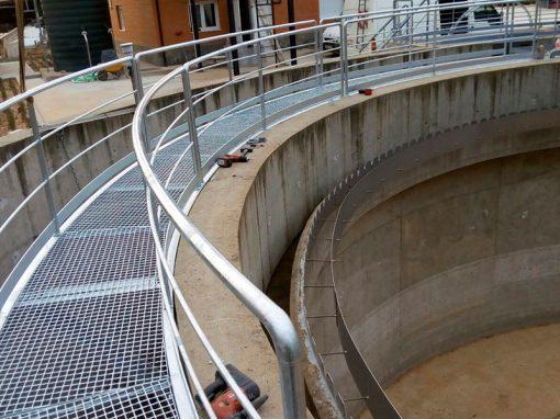 Trabajos depuración de aguas residuales – Santa Cristina