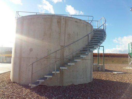 Trabajos depuración de aguas residuales – Rueda