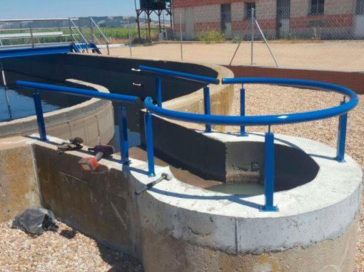 Trabajos depuración de aguas residuales – Cigales